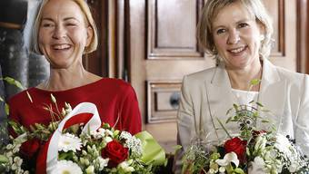 Erstmals gehören zwei Frauen der Solothurner Regierung an: Susanne Schaffner von der SP (links im Bild) und Brigit Wyss von den Grünen schafften die Wahl.