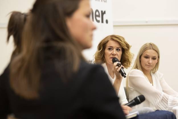 Susanne Brunner, Nationalratskandidatin der SVP, spricht sich gegen einen Vaterschaftsurlaub aus. (Bild: Keystone)