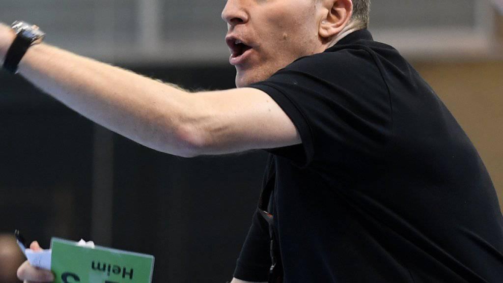 Der Schweizer Nationaltrainer Michael Suter will mit seinem Team hoch hinaus - nächster Gegner in der EM-Qualifikation ist Portugal