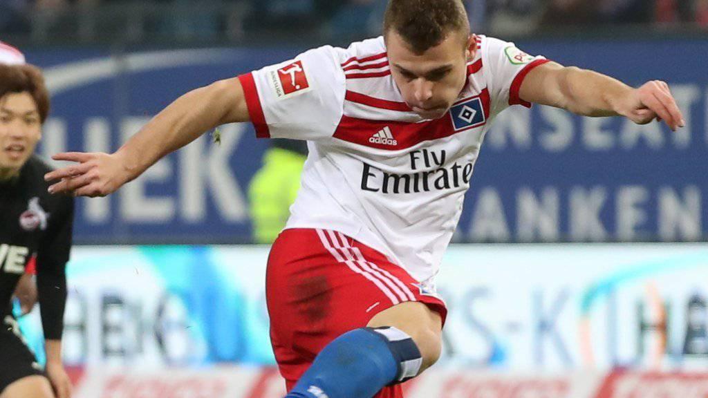 Der Schweizer Vasilije Janjicic steht seit Juli 2016 beim Hamburger SV unter Vertrag.