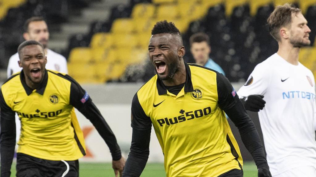 Schrei der Erlösung: Jean-Pierre Nsame beendet die Zitterpartie und befördert YB vom Penaltypunkt aus in die K.o.-Phase der Europa League
