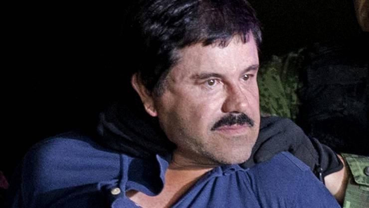 "Der mexikanische Drogenboss Joaquin ""El Chapo"" Guzmán bei seiner Verhaftung 2016 in Mexiko. (Archivbild)"