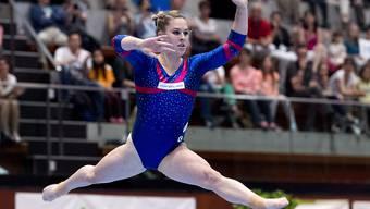 Giulia Steingruber räumte an den Schweizer Meisterschaften im Kunstturnen ab; sie gewann gleich alle Goldmedaillen