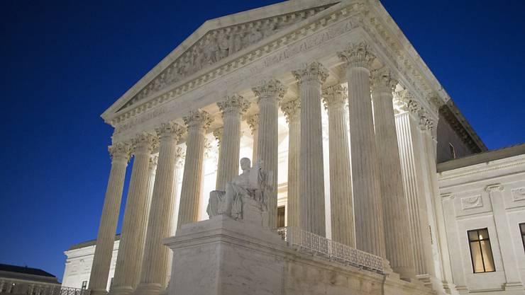 Das Gebäude des Obersten Gerichts der USA, dem Supreme Court, in der Hauptstadt Washington. (Archivbild)
