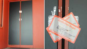 Das amtliche Siegel macht klar: Das Ladenlokal in der Altstadt-Liegenschaft «Hirzen» ist geschlossen.