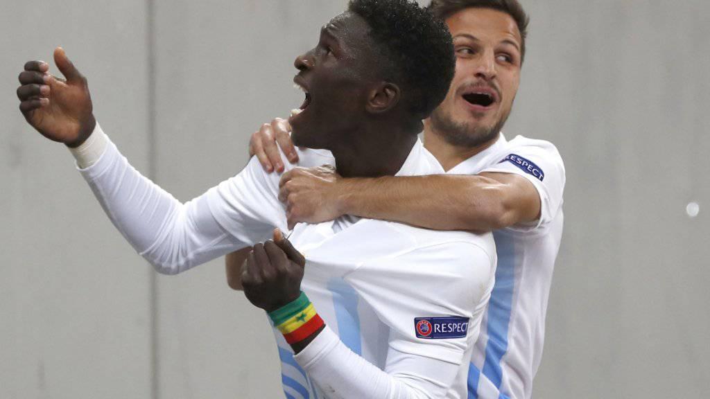 Freude beim FCZ: Moussa Kone und Antonio Marchesano