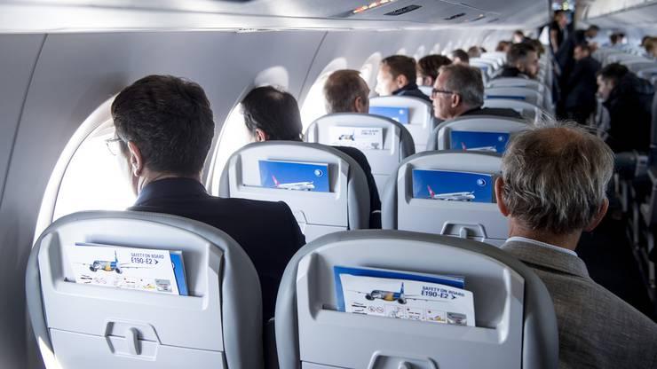 Grosse Fenster und genügend Sitzabstand zeichnen das neue Helvetic-Flugzeug aus.