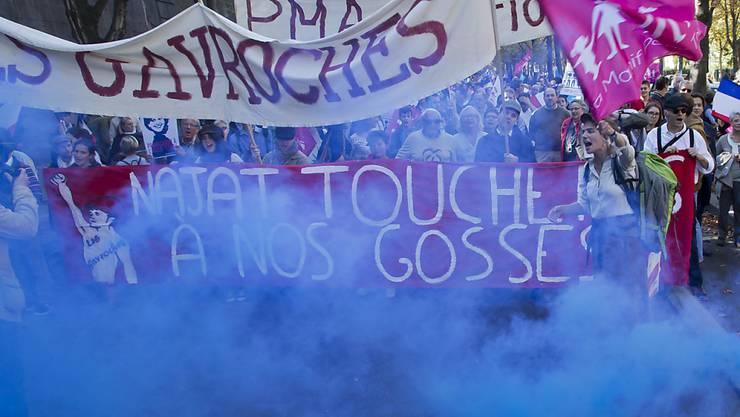 24'000 Menschen gingen in Paris gegen die gleichgeschlechtliche Ehe auf die Strasse.