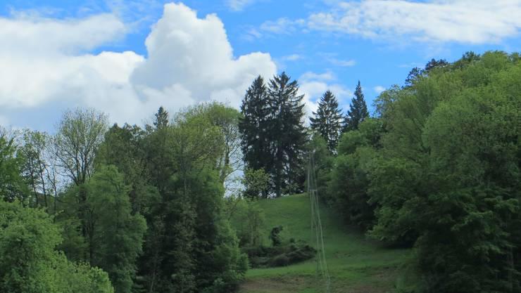 Die Wolken wie auch der blaue Himmel