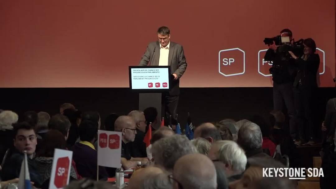 SP-Chef Levrat zur Bundesratskandidatur von Regula Rytz