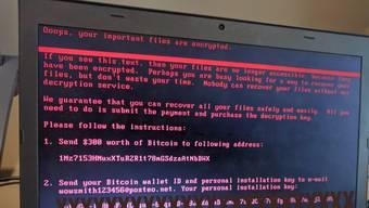 Petya: Eine neue Cyber-Attacke hat dutzende Unternehmen lahmgelegt, vor allem in der Ukraine.