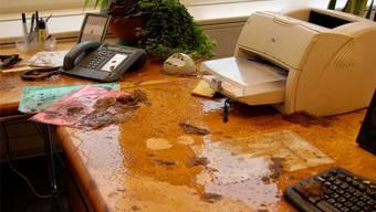 Mit Fäkalien verschmiert: 2010 kam es im Büro des damaligen Ammanns Josef Bütler anstelle von verbalen Entgleisungen zu übel riechendem Vandalismus.