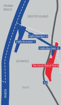 Eine halbe Stunde dauert die Fahrt vom Rhein in das Hafenbecken 3.