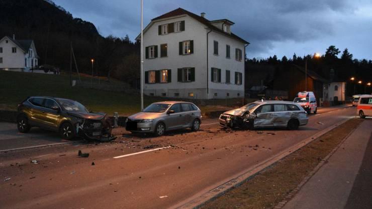 Bein Unfall in Schaanwald wurden drei Personen verletzt.