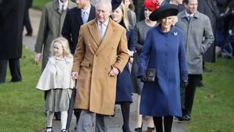 Die königliche Familie auf dem Gang zum traditionellen Weihnachtsgottesdienst in Sandringham. Nur Königin Elizabeth II. fehlt - wegen einer Erkältung