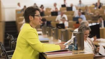 Gesundheitsdirektorin Franziska Roth hatte mit der Regierungsposition im Grossen    Rat wiederholt keinen leichten Stand.