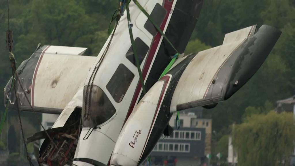 Die Bergung des abgestürzten Flugzeugs ist geglückt