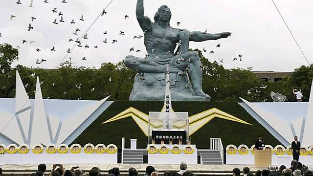 Gedenkveranstalung für die Opfer der Atombombe in Nagasaki