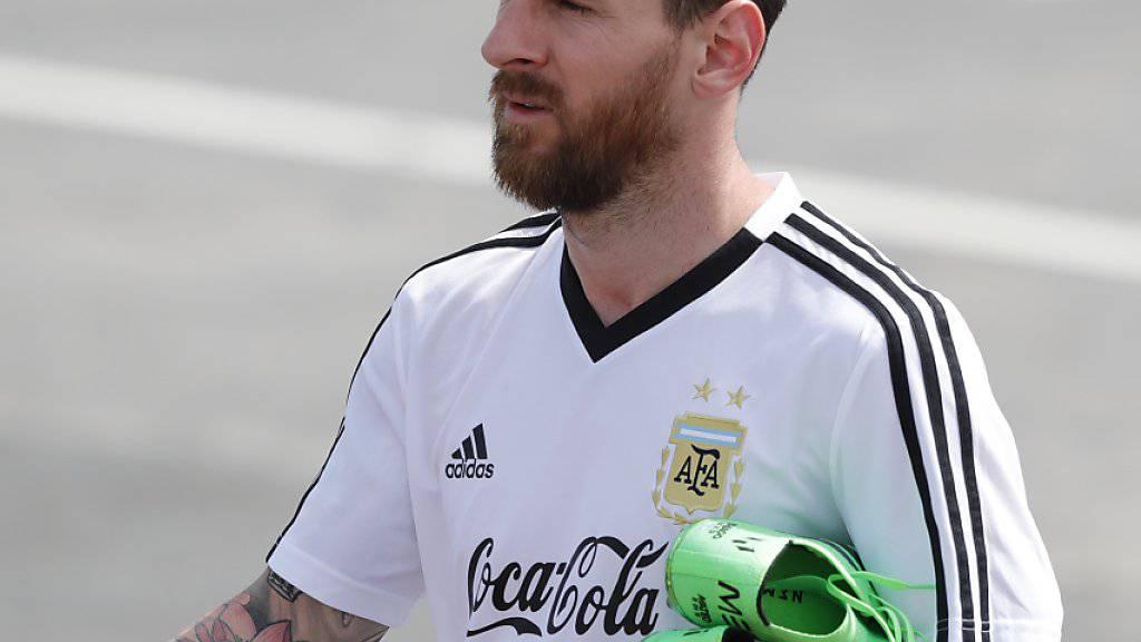 Bei einem Ausscheiden in der Vorrunde dürfte Lionel Messis Karriere im Nationaltrikot endgültig zu Ende sein