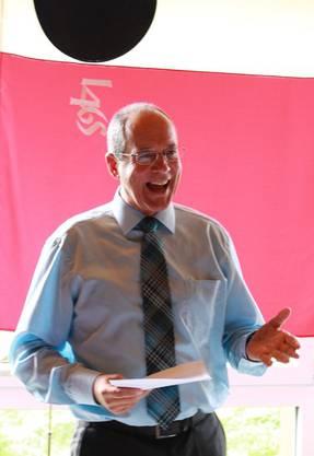 Präsident Rolf Düggelin führte souvern durch den Anlass.
