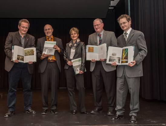 Dominik Sieber, Walter Hochreiter, Eva Gschwind, Claudius Sieber-Lehmann und André Salvisberg präsentierten ihr Werk