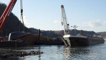 """Bis vor wenigen Tagen wurde noch Säure von der """"Waldhof"""" auf ein anderes Schiff gepumpt"""