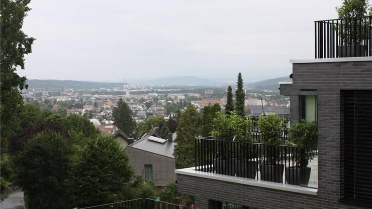 Die Gemeinden rund um Basel berechneten ihre finanzielle Zukunft zu pessimistisch – Blick von Pfeffingen über das Birstal in Richtung Stadt. Benjamin Wieland