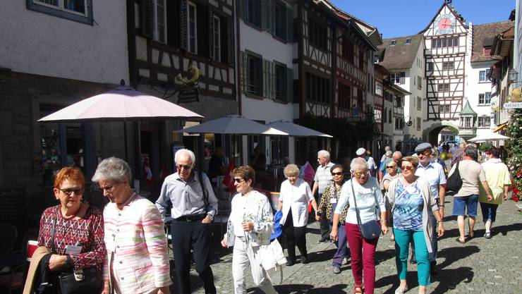 Spaziergang durch Stein an Rhein