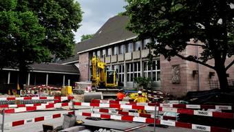 Auf dem Dorfkern von Riehen wird derzeit gebaut. Eine Baustelle der Gemeinde ist seit Jahren auch das K-Netz.