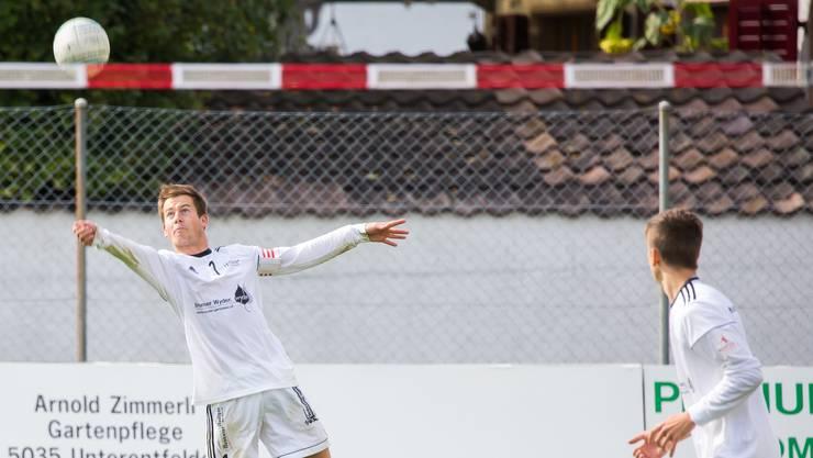 Reto Hunziker und seine Teamkollegen vom STV Oberentfelden gewinnen gegen Walzenhausen und stehen eine Runde vor Schluss auf dem fünften Rang.