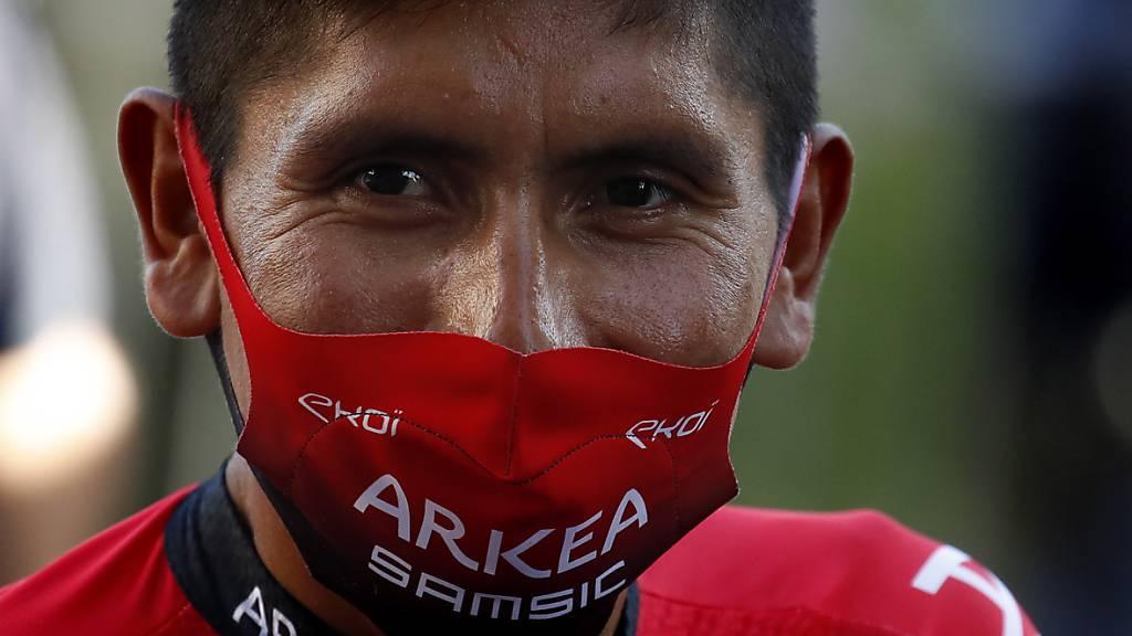 Nairo Quintana sagt trotz Maske: «Ich habe nichts zu verbergen.»