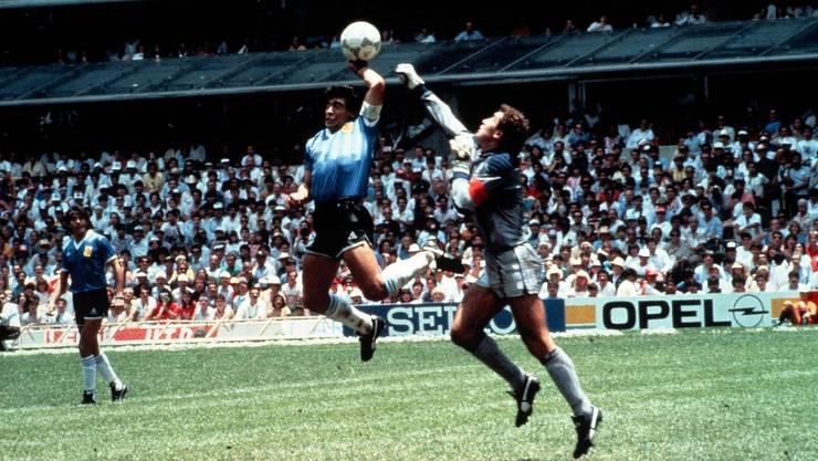 Die berühmte «Hand Gottes» an der WM 1986 im Spiel gegen England.
