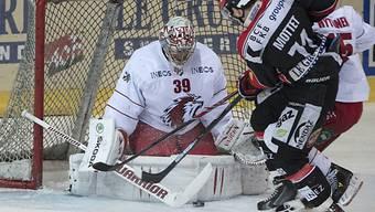 Lausanne-Goalie Huet liess sich erst im Schlussdrittel bezwingen