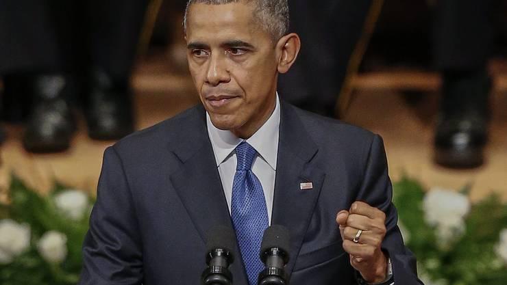 Barack Obama bei der Ansprache in Dallas