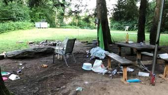 So sah es vergangenes Wochenende an einem Grillplatz am Burgäschisee aus.