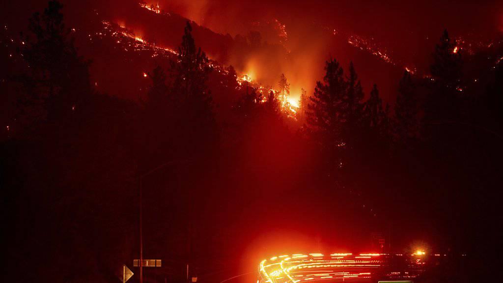 In Kalifornien brennen erneut die Wälder.