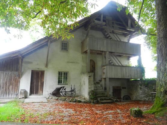 Der Speicher liegt direkt beim Waldegghof