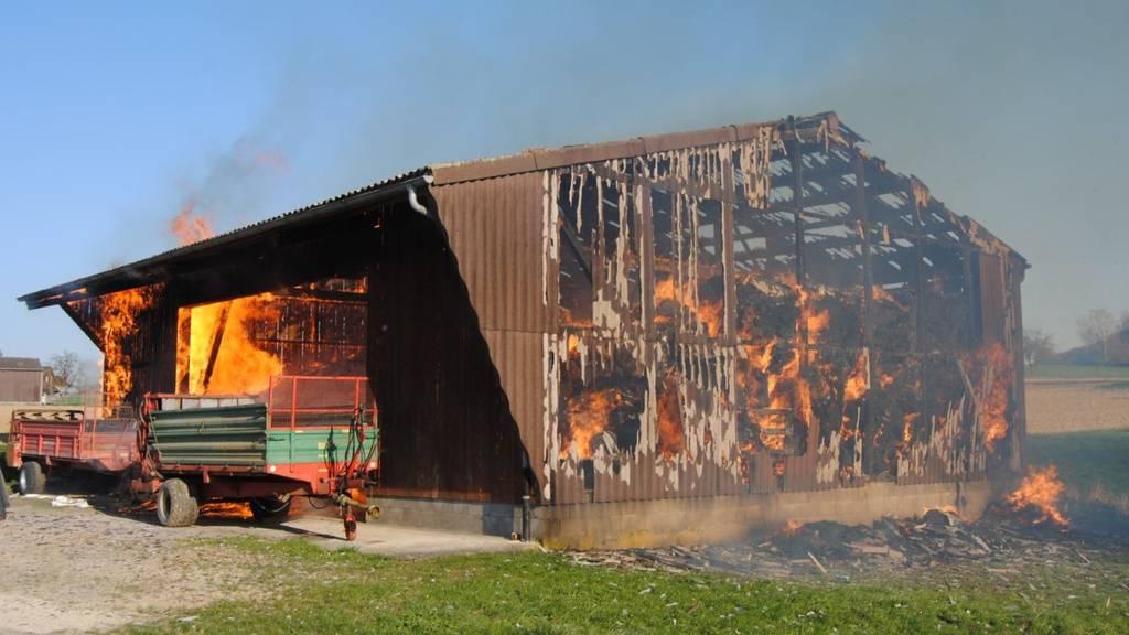 Neunkirch: Scheune brennt komplett nieder