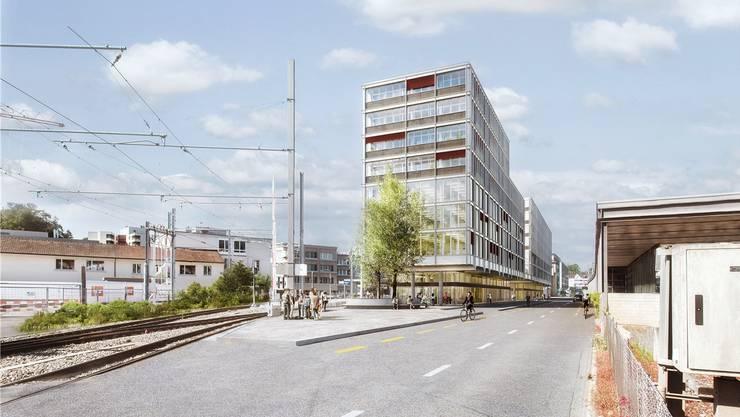 Umstritten: Das Baugesuch für den Bahnhof Süd (heute WSB).