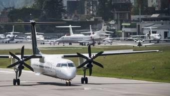 """Der Kanton Tessin soll seine Beteiligung am Flughafen Lugano erhöhen. Doch die """"Bewegung für den Sozialismus"""" hat bereits das Referendum angekündigt (Archivbild)."""