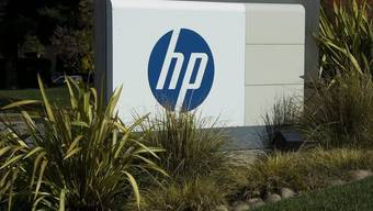 Logo von Hewlett-Packard: Der Computerhersteller erleidet einen riesigen Verlust (Symbolbild)