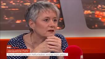 """Jacqueline Fehr: """"Eine Abschaffung von Hafturlauben wird es nicht geben"""""""