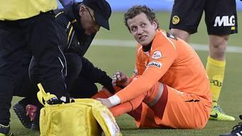 Marco Wölfli nach seinem Unfall im Derby