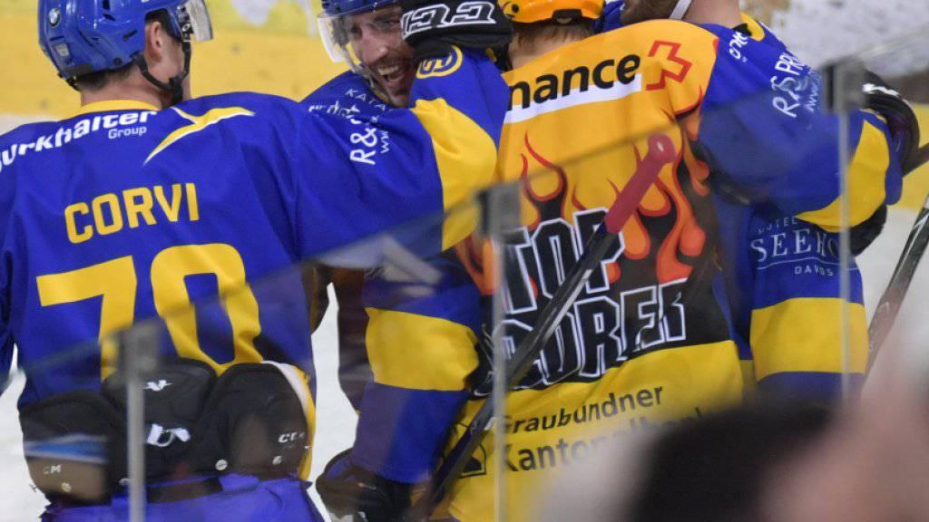Davoser Jubel gegen Spengler-Cup-Finalist HC Lugano