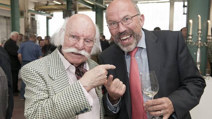 Alt Fasnächtler Mäni Fuchs und alt Stadtrat Kurt Wiederkehr sind immer an der Stadtcasino-GV anzutreffen