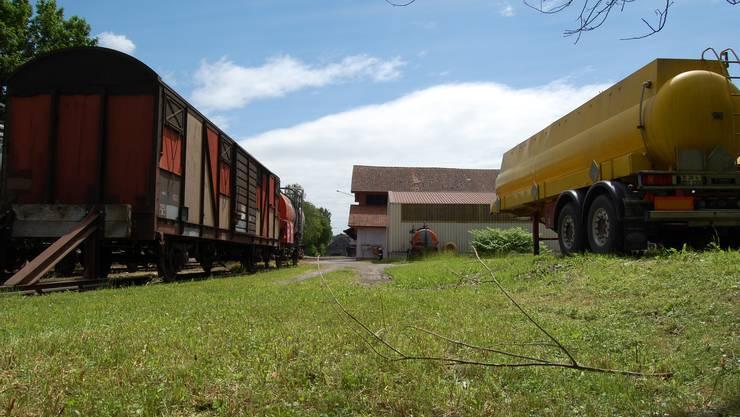 Belastet: Unter der Oberfläche des Industrieareals Rotholz lagerte jahrelang mit Uran belasteter Abfall. (Bild: Frank Speidel)
