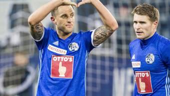 Reto Ziegler jubelt nach seinem Penaltytreffer gegen seinen Ex-Klub