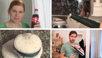 Putzen mit Cola, Backpulver, Glasfaserstift oder Spülmittel: Günstige Hausmittelchen sind im Putztrend.