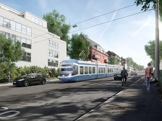 Auf der Bucheggstrasse soll das Rosengartentram acht neue Haltestellen abdecken.