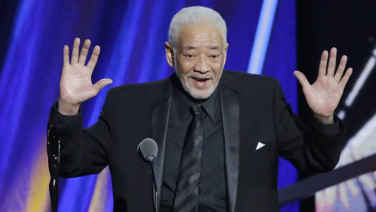 """Bill Withers, 2015, bei seiner Aufnahme in die """"Rock and Roll Hall of Fame""""."""